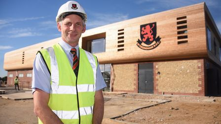 Peter Graves, development committee chairman, at the new Wymondham Rugby Club build which is nearing