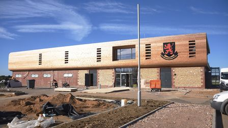The new Wymondham Rugby Club build which is nearing completion. Picture: DENISE BRADLEY