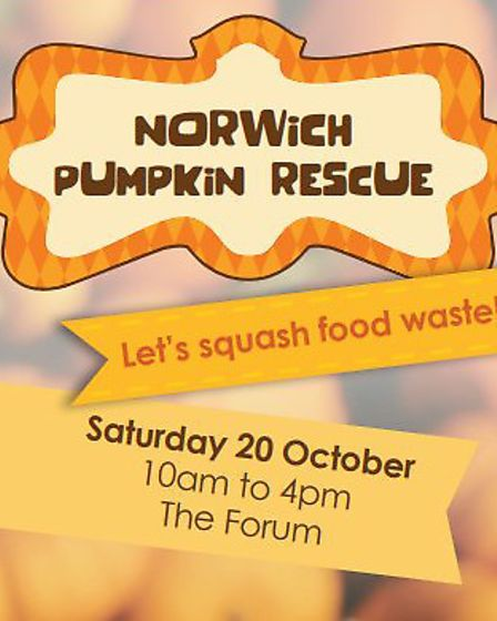 Poster for the pumpkin rescue event ran by Norwich City Council and One Planet Norwich. Picture: One
