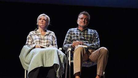 Sharon Small as Alice and Martin Marquez as John in Still Alice. Photo: Geraint Lewis