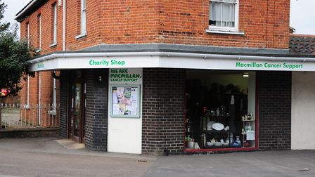 The Macmillan Cancer Support shop in Hethersett. Picture by SIMON FINLAY.