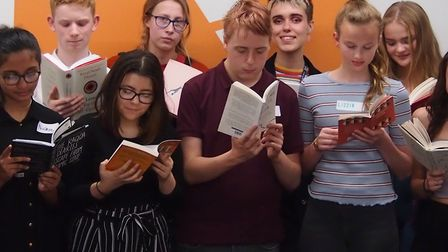 Pupils taking part in the young people's literature festival. Picture: National Centre for Writing