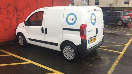 The RCP van parked in a disabled parking bay in Anglia Square. PHOTO: Nigel Townsend