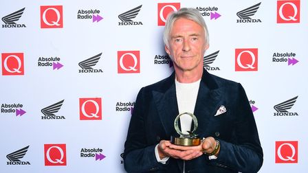 Paul Weller with the Q Best Act in the World Today Award in the press room during the Q Awards 2018