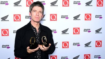 Noel Gallagher with the Q Best Solo Artist Award in the press room during the Q Awards 2018 in assoc