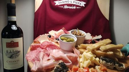 Saporita offers pizza by the slice, panino (panini), focaccia and tagliere which is a cold meat, che