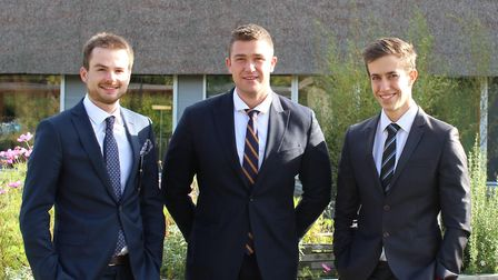Norwich wealth management firm Chadwicks has welcomed three new recruits. (From left) Tom Thornhill,