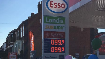 Cheap petrol prices at the Esso garage on Aylsham Road, Norwich (Image: Phil Large)
