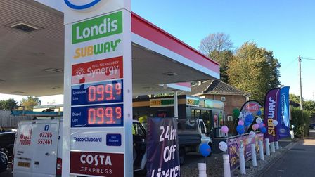 Esso garage on Aylsham Road was selling cheap petrol (Image: Phil Large)