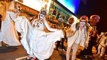 The Spooky City parade in 2015. There will be no parade in Norwich this year. Pic: ANTONY KELLY
