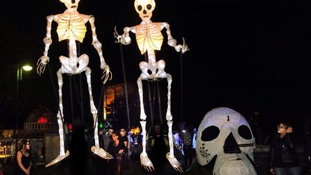 Sinister goings on at the Spooky City parade in 2014. Pic: DENISE BRADLEY
