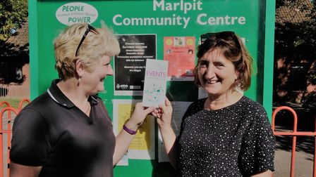 Sue Fage, treasurer and Lucy Galvin, chairwoman of Marlpit Community Centre. Picture: Lucy Galvin