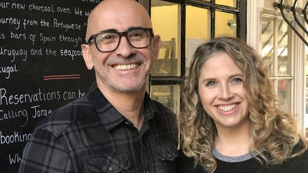 Jorge and Eleanor Santos, owners of Jorge's the new Portuguese restaurant in Norwich. Photo: Victor