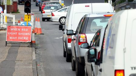Temporary traffic lights will be installed on Three Score Road. Picture: James Bass