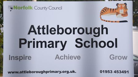The Attleborough Primary School sign. Picture: DENISE BRADLEY