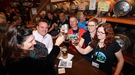 Norwich Beer Festival 2018 at St Andrew's Hall.Picture: ANTONY KELLY