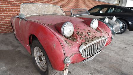 East Anglian Motor Auctions. Two Austin Healey Sprites which were for sale. Picture: ANTONY KELLY