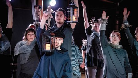 Total Ensemble present 'The Boy in the Lighthouse' at the 2018 Hostry Festival. Photo credit Simon F