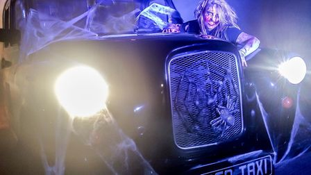 The haunted taxi photo booth will be at Anglia Square for spook season. Photo: Coco Photo Booths