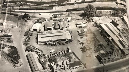Norwich City station by air photographed on July 6, 1949 Credit: Historic England Archive, Aerofilms