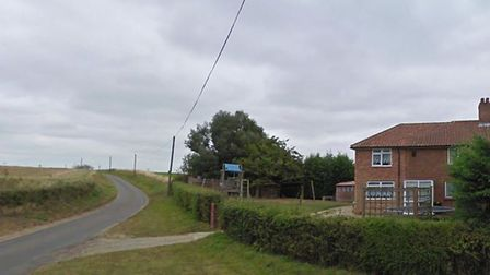 Homes at the junction of Forncett Road and Low Common in Bunwell that will be able to see the 21m ma