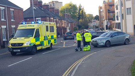 The scene in King Street. Picture: Marc Betts