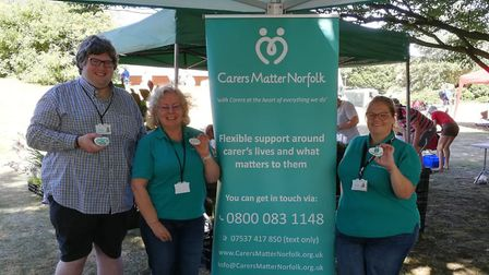 Members of Carers Matter Norfolk at an event. Picture: Carers Matter Norfolk