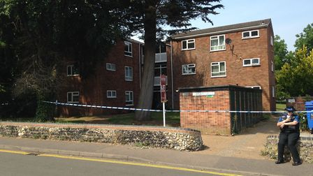 The scene of a stabbing at Watson Grove in Norwich last year (2017). Picture Luke Powell