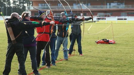Wymondham Archers open their 360+ days per year archery range with their partners Wymondham Rugby Fo