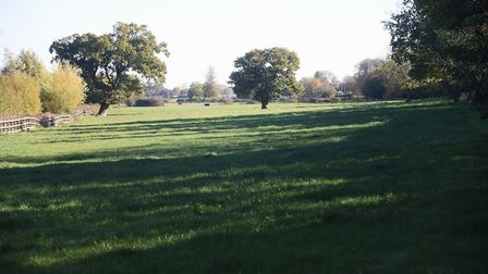 The land (pictured from Queens Road) earmarked for a development of 327 homes between the Norwich Ro