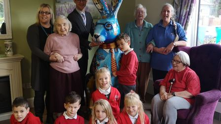 Hare-mione welcomed to Westfields care home. Picture: Plain Speaking PR