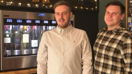 Kane Freeman and Laz Damon are the new owners of The Wallow in Exchange Street Credit: Louisa Baldwi