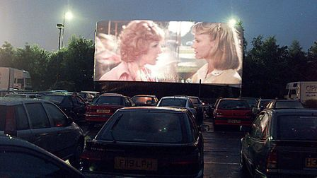 A previous drive-in cinema at a supermarket in Norwich. Picture: Simon Finlay