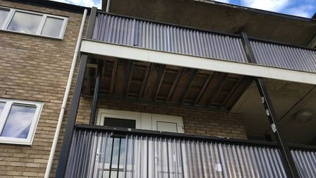 People living at Lefroy Road claim they were told ceiling boards outside their flats would be replac