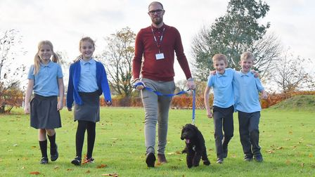 Hugo the Cockerpoo is the newest member of the class at Old Buckenham Primary School.Hugo is walked