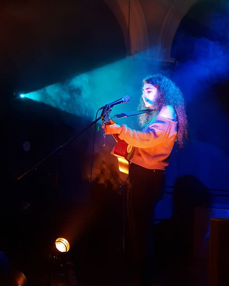 Maya Law, who is part of the Sonic Youths music development programme, performing. Photo: Annie Catw