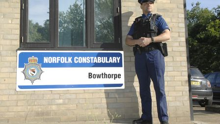 An application has been submitted to demolish Bowthorpe Police Station. Picture: Colin Finch