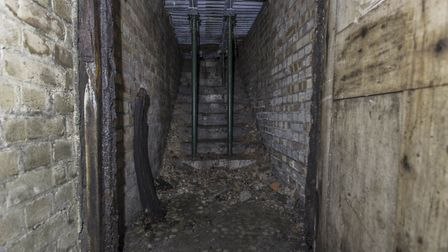 Inside the air raid shelters beneath the Norwich School. Picture: www.dibsmccalumphotography.co.uk