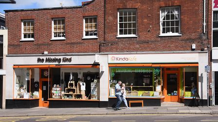 The Missing Kind and the KindaKafe on Castle Meadow. Picture: DENISE BRADLEY