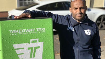 Takeaway Taxi founder Milon Miah with one of their delivery vehicles