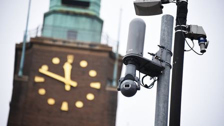 A CCTV camera with City Hall in the background. Norwich City Council says it needs to replace the ci