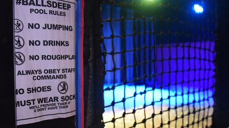 The sign at the new ball pit at Bished nightclub. Picture: DENISE BRADLEY