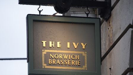 The Ivy Brasserie sign in London Street. Picture: DENISE BRADLEY
