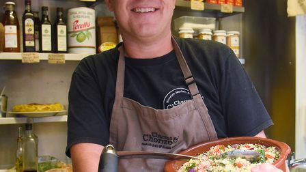 Nick Brewer at the Spanish Churros & Chorizo stall at Norwich market, which opened in August 2017. P