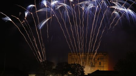 Big Boom fireworks display at Norwich Castle from City Hall. Picture: MARK BULLIMORE