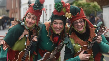 The Ukulele Elves at the Wymondham Wynterfest. Picture: DENISE BRADLEY