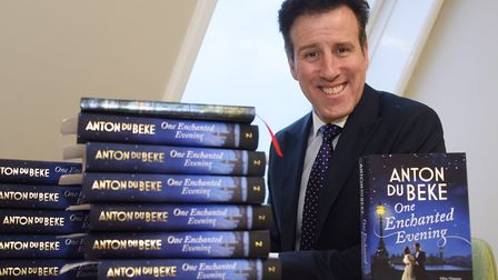 Anton du Beke, from Strictly Come Dancing, with his book, One Enchanted Evening. Picture: DENISE BRA