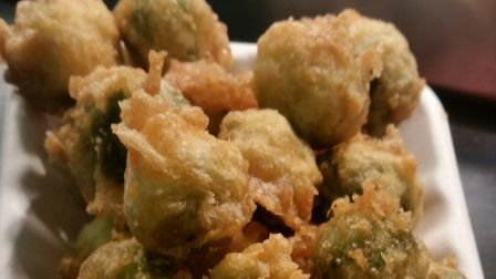 Lucy's Fish and Chips are serving battered sprouts this Christmas. Photo: Barclay Gray