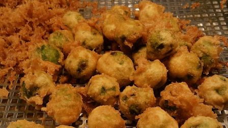Battered Sprouts at Lucy's Fish and Chips. Photo: Barclay Gray
