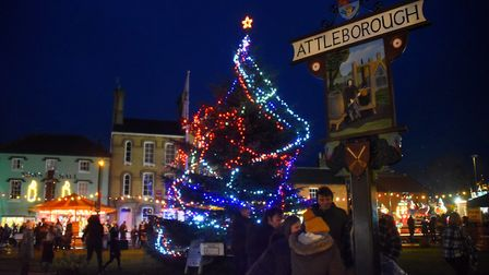 The Christmas lights go on at the Attleborough Carnival. Picture: DENISE BRADLEY